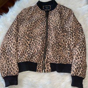 Cheetah Print Varsity Jacket